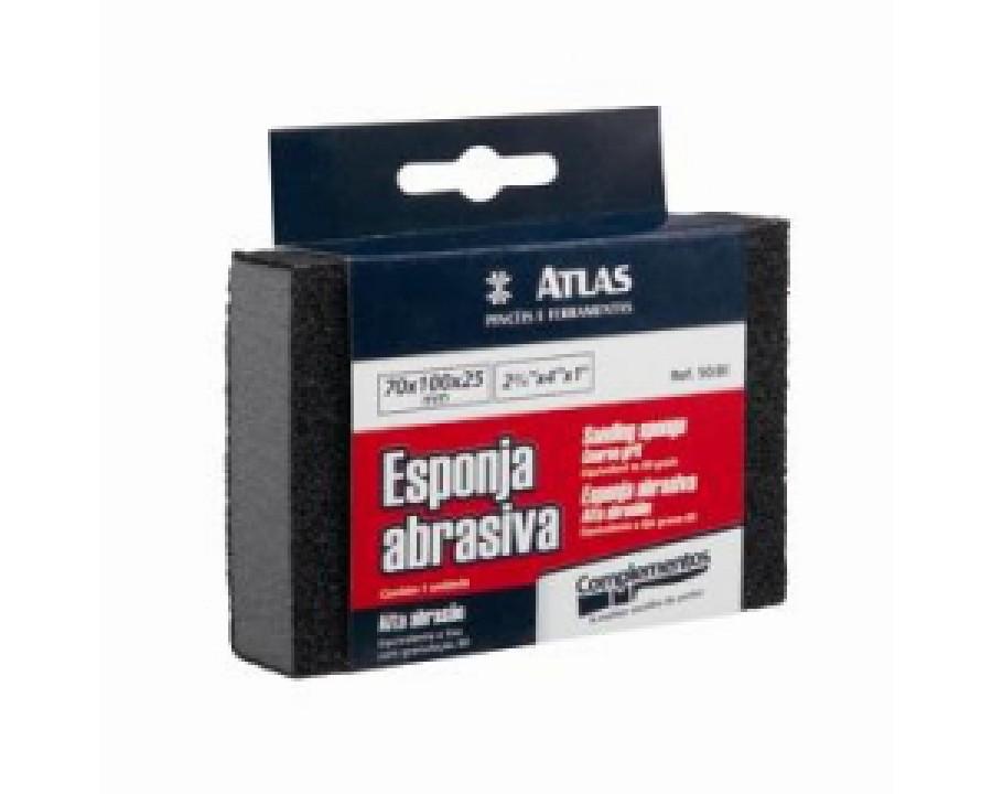 Esponja abrasiva atlas baixa abrasao 50/180